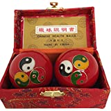 Baoding Balls Chinese health Massage Exercise Stress Balls - Triple YinYang #3