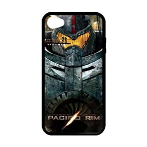[Accessory] iPhone 4 Case, [Pacific Rim] iPhone 4,4s Case Custom Durable Case Cover for iPhone4s TPU case (Laser Technology)