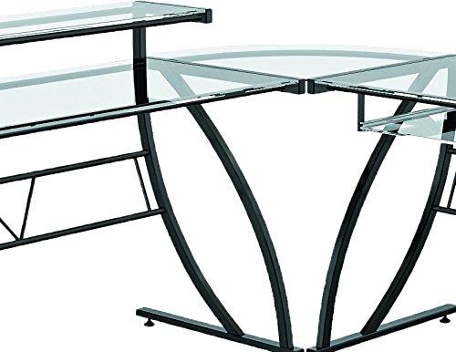 Z line belaire glass l shaped desk
