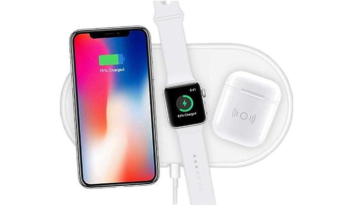 Risultati immagini per 3 in 1 Qi Wireless Pad di Caricabatterie per iPhone iWatch Airpods