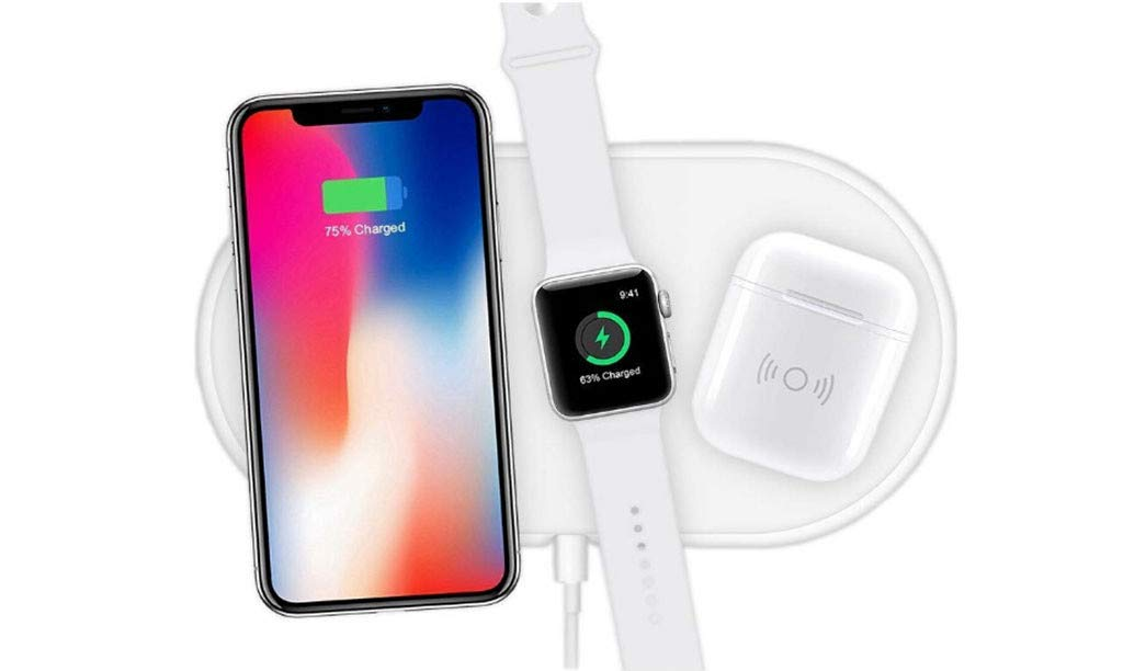Wireless Charging Pad, 3 in 1 Airpower Wireless Charger Pad Qi Wireless Charger Holder for Apple Airpods 2th for Apple Watch for iPhone by Sunshinehomely (Image #2)