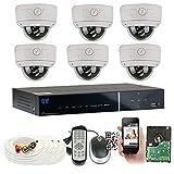GW Security 8 Channel HDMI CCTV DVR Outdoor / Indoor Security Camera System with (6) 1000TVL Varifocal Zoom Surveillance Cameras