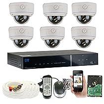 GW Security 8 Channel HDMI CCTV DVR Outdoor / Indoor Security Camera System with (6) 1080P (1920TVL) Varifocal Zoom Surveillance Cameras