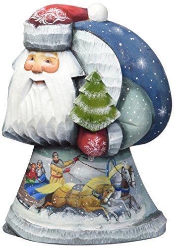 G. Debrekht Dashing Nights Santa Hand-Painted Wood Carving Debrekht Santa