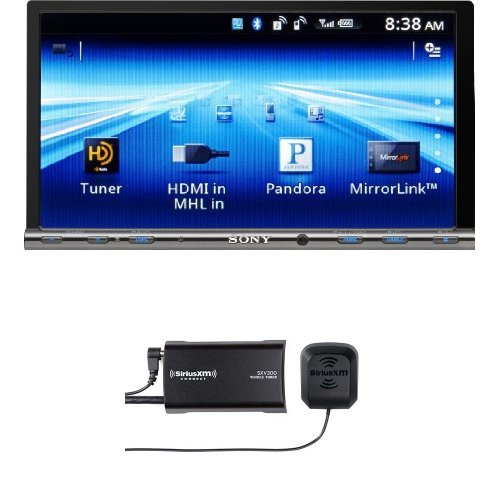 Sony GS Series XAV712HD Video Receiver with SiriusXM SXV300v1 Connect Vehicle Tuner Bundle (Sony Car Stereo Bundle compare prices)