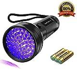 Best Blacklight Flashlights - Black Light UV Flashlight,51 LED 395 nM Ultraviolet Review