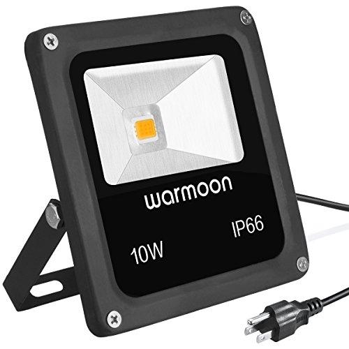 Warmoon LED Flood Lights Outdoor Waterproof IP66 10W