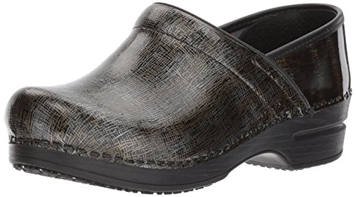 Sanita Women's Smart Step Skylar Work Shoe, Brown/Multi, 39 EU/8/8.5 M US (Sanita Slip Clogs)