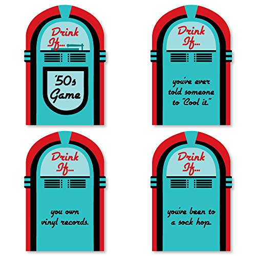 Drink If Game - 50's Sock Hop - 1950s Rock N Roll Party Game - 24 Count ()