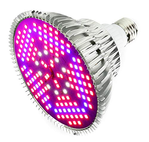 Outcrop Innovations 100w Indoor LED Grow Light Bulb for Growing Plants, Vegetables, and Flowers - 150 Individual LEDs Full Spectrum PAR with E27 Base for Hydroponics Greenhouses Indoor Gardening ()