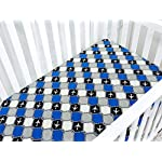 BlueSnail-Plush-Super-Soft-and-Waterproof-Crib-and-Toddler-Mattress-Cover-for-Baby-2-Pack-Navy-Plane