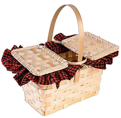Forum Novelties 79084 Little Red Gingham Basket-Standard -