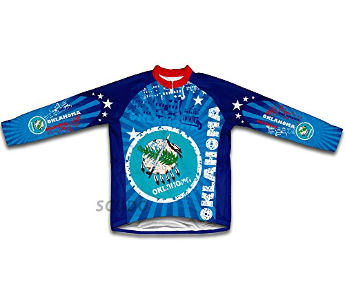 (ScudoPro Oklahoma Long Sleeve Cycling Jersey for Women - Size 3XL)