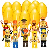 Easter Eggs with Construction Toy Figures –...
