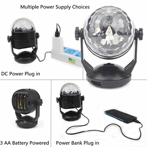 Portable Sound Activated Party Lights for Outdoor and Indoor Battery Powered/USB Plug in Dj Lighting RBG Disco Ball Strobe L& Stage Par Light for Car ...  sc 1 st  Instrument Jam & Portable Sound Activated Party Lights for Outdoor and Indoor ... azcodes.com
