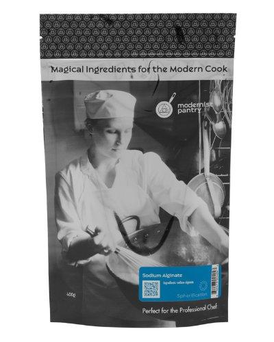 Food Grade Sodium Alginate (Molecular Gastronomy)  Non-GMO  Vegan  OU Kosher Certified - 400g/14oz