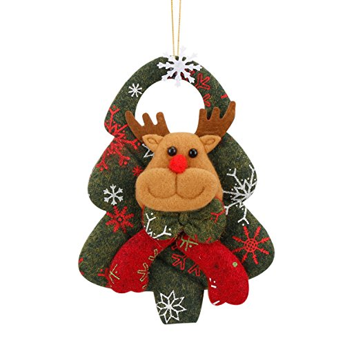 Personalised Christmas Decoration Items Xmas Christmas Tree Pendant Hanging Ornaments Decorations Baubles Stuff Accessories Cute Snowman Santa Reindeer Outdoor Outside Exterior Indoor Festive Holiday (Decoration Christmas Personalised)