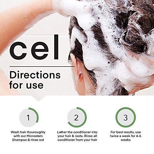 CEL MD Stem Cell Hair Growth Thickening Shampoo and Conditioner for Women and Men | Hair Loss Regrowth, Damaged Hair Thinning Treatment | Biotin Nettle Leaf Ginseng Keratin Glycerin by CEL MD (Image #4)