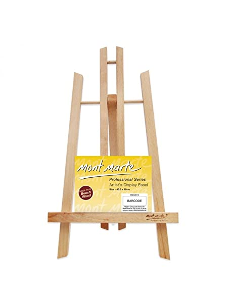 Mont Marte Small Desk Easel Made of Beech Wood - Medium - Compact Easel -  Ideal Wooden Easel for The Presentation of Canvas and Frames up to 40 cm -