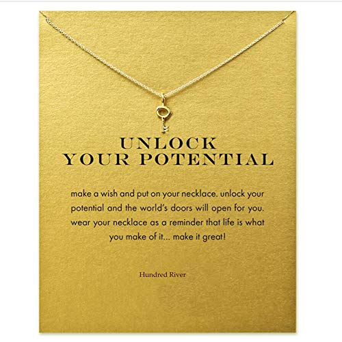 Hundred River Birthday Gift Simple Key Clavicle Necklace Wish Necklace (Key)