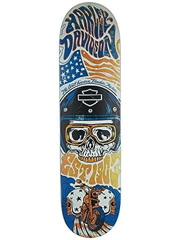 Dark Star 10012503 Dst-Harley-Davidson Legend Deck, Orange, Size 8.125 - Darkstar Skate Decks