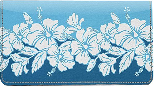 - Blue Hawaii Leather Checkbook Cover