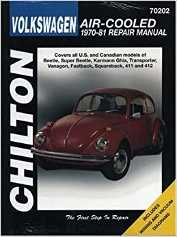Book Volkswagen Air-Cooled, 1970-81 (Chilton Total Car Care Series Manuals) 1st edition by Chilton (1997)