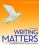 Writing Matters (National Tabbed Edition) with MLA Booklet 2016 and Connect Composition Access Card 2nd Edition