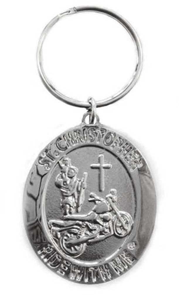 Christopher Ride with Me Motorcycle Medal Keychain BH010 St