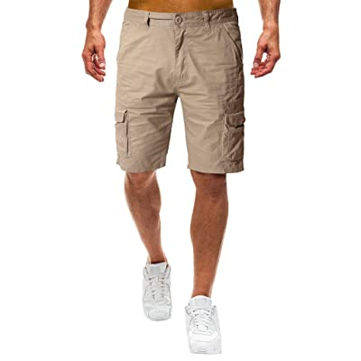 STORTO Mens Casual Cotton Shorts Big and Tall Workout Slim Fit Fashion Summer Work Cargo Shorts Pants with Pockets