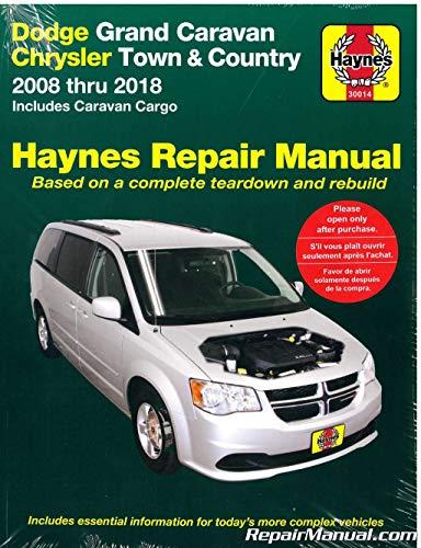 H30014 Dodge Grand Caravan Chrysler Town Country Van 2008-2018 Haynes Car Repair Manual