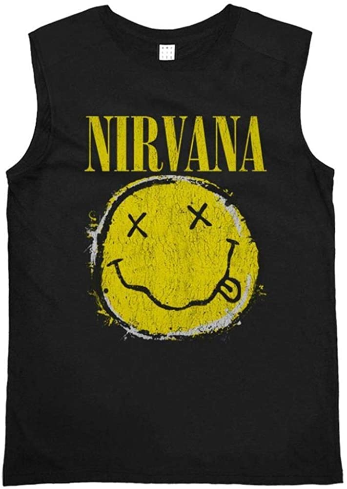 Sleeveless Amplified Nirvana Worn out Smiley
