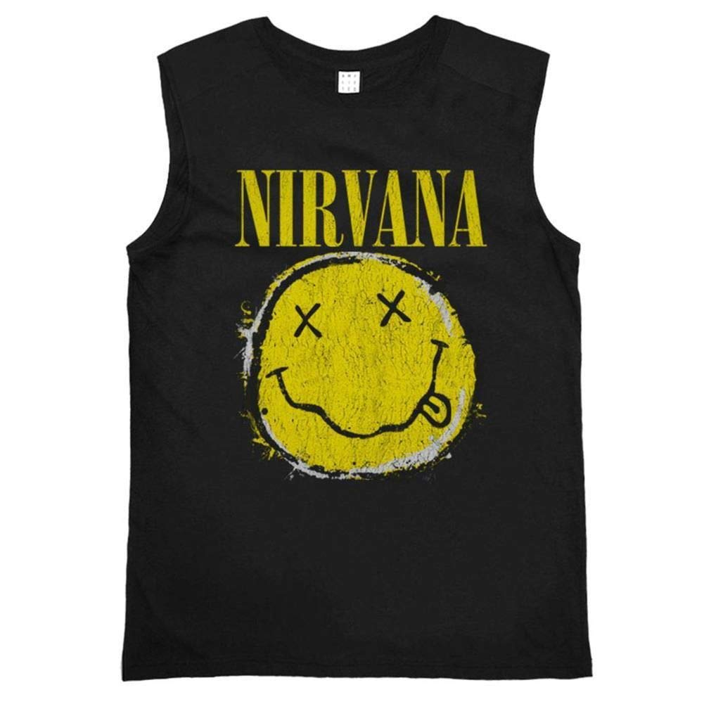 Amplified Nirvana Sleeveless Worn out Smiley