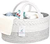 Luxury Little Baby Diaper Caddy Organizer - Rope