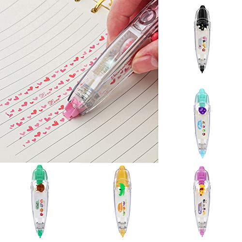 Inverlee Back to School Supplies, Novelty Cute Cartoon Correction Tape Set Tape Sticker Machines Pen Adhesive Stationery Masking Tape DIY Scrapbooking Stickers Diary Decor (B) by Inverlee School&Office Supplies (Image #5)