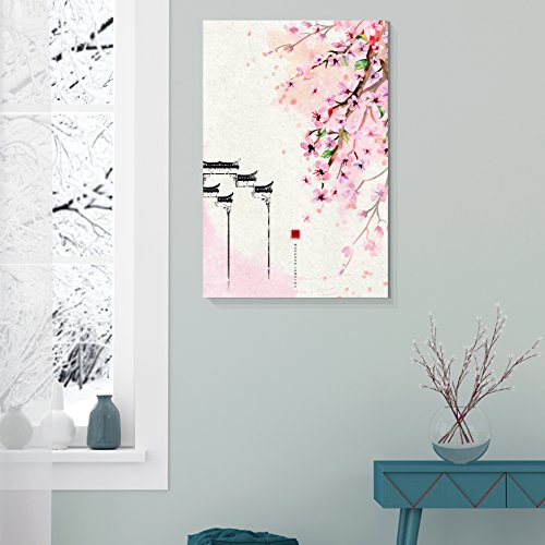 Traditional Chinese Style Painting of Cherry Blossom in Spring