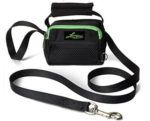 Leash Gear 3-N-1 EZ Walker - Dog Leash, Poop Bag Dispenser, Waste Compartment Plus Accessory Pocket (Small, - Walker Ez