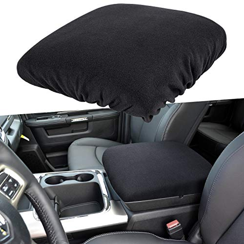 E-cowlboy Center Console Armrest Pad Cover for Dodge Ram 1500 2500 3500 4500 5500 Pickup Trucks 1993~2018 Black Soft Car Armrest Protector Cushion All Seasons