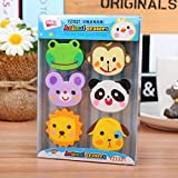 zoo rubber animal eraser lovely creative stationery set student prize gift chirstmas gift promotional gift(2)