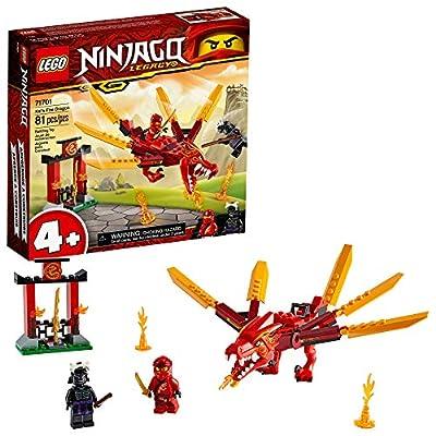 LEGO NINJAGO Legacy Kai's Fire Dragon 71701 Dragon Toy Figure Building Kit, New 2020 (81 Pieces): Toys & Games