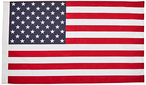 Heath Outdoor Products American Flag - 2.5 x 4 Feet Poly Cotton Flag with Pole Sleeve - Made in The USA - #25303M ()