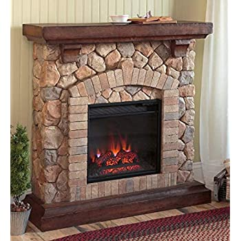 Amazon Com Plow Amp Hearth Stacked Stone Free Standing Electric