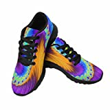 Cheap InterestPrint Women's Cross Trainer Trail Jogging Walking Athletic Sneakers 11 B(M) US Spiral Rainbow