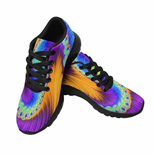 Cheap InterestPrint Women's Cross Trainer Trail Jogging Walking Athletic Sneakers 11 B(M) US Spiral Rainbow