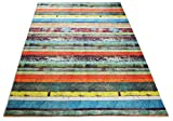 """Cheap Nature Inspired Printed Area Rug Slip Resistant TPR Rubber Back Exotic Patterns (Wood Multi Color, 4'11"""" x 6'11"""")"""