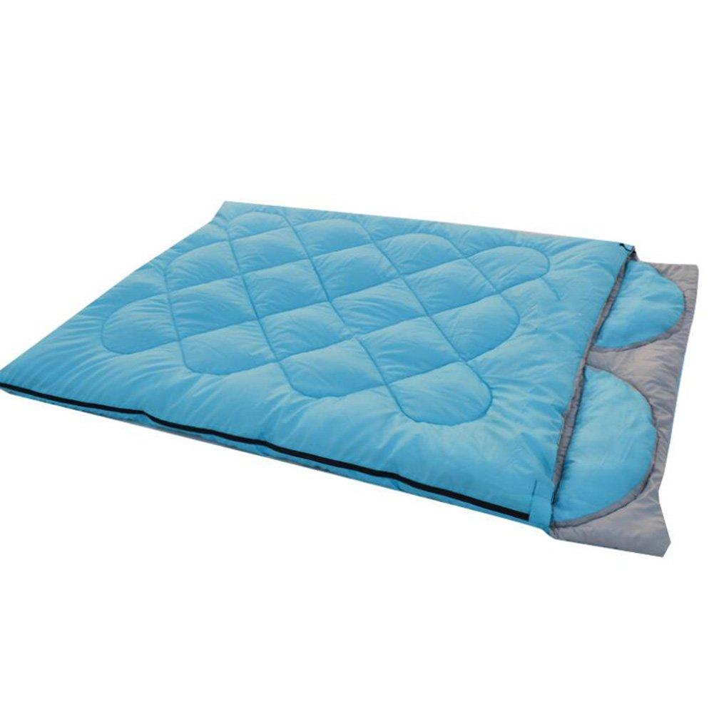 Gaojuan Saco de dormir de otoño e invierno modelos doble al aire libre amantes saco de dormir de moda Saco de dormir de camping desmontable con saco de dormir almohada (Color : B)