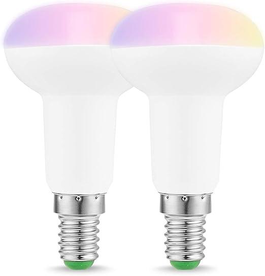 AOTUO WiFi Smart Couleur de la Lampe Dimmable LED B22 App sans Fil pour t/él/écommande Compatible avec Alexa Google Home B22