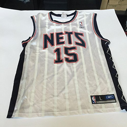 check out 09dc7 a8e34 Vince Carter Signed Authentic Reebok New Jersey Nets Jersey ...