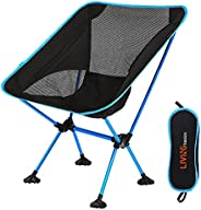 LIVINGbasics Lightweight Portable Folding Camping Backpacking Chair, Collapsible Foldable Packable Lightweight