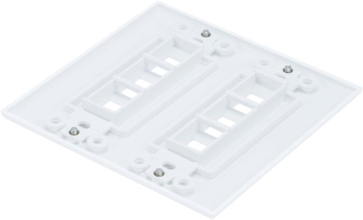Monoprice 106733 Wall Plate for Keystone 6 Hole White